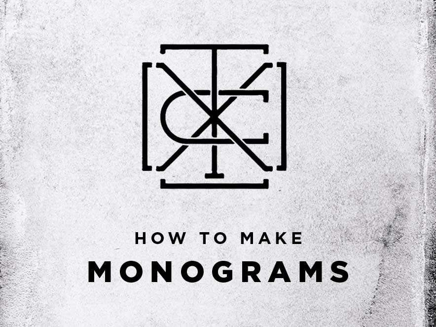 how to make monograms
