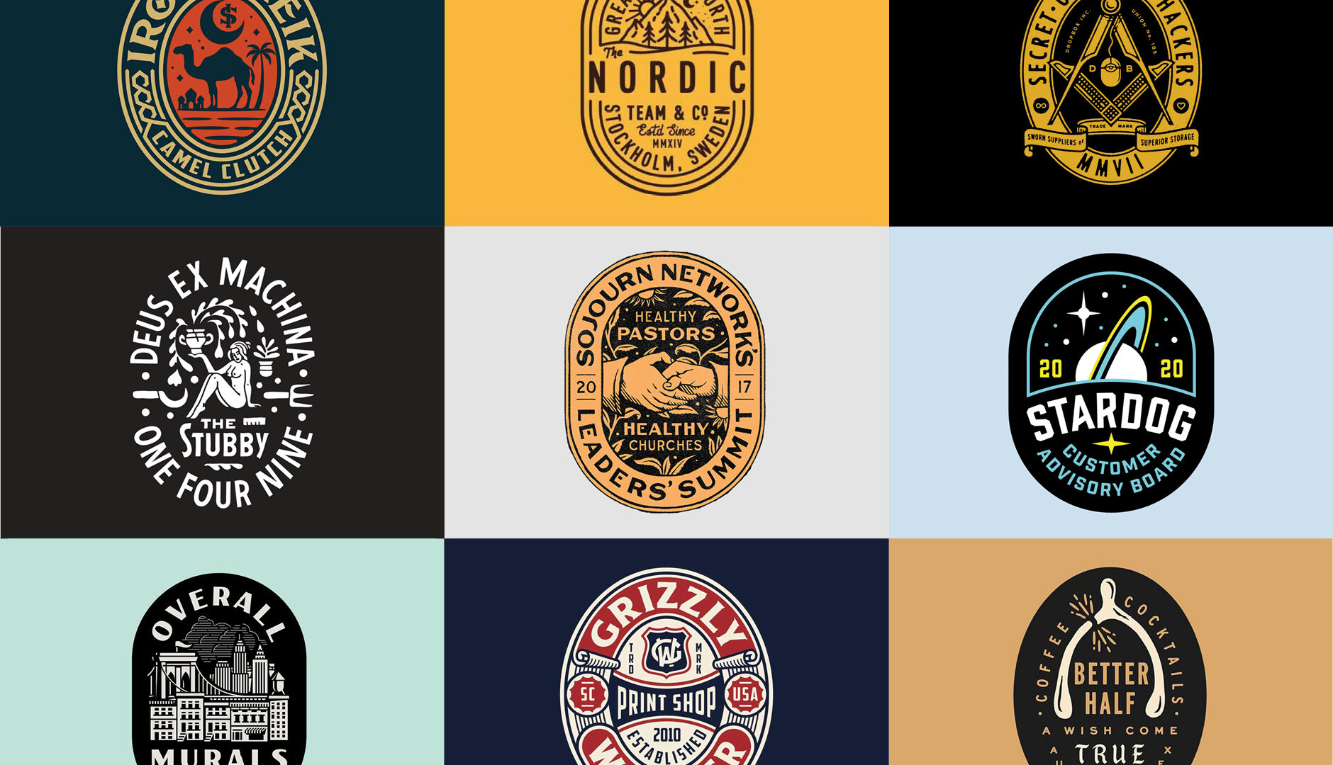 oval badge logo designs
